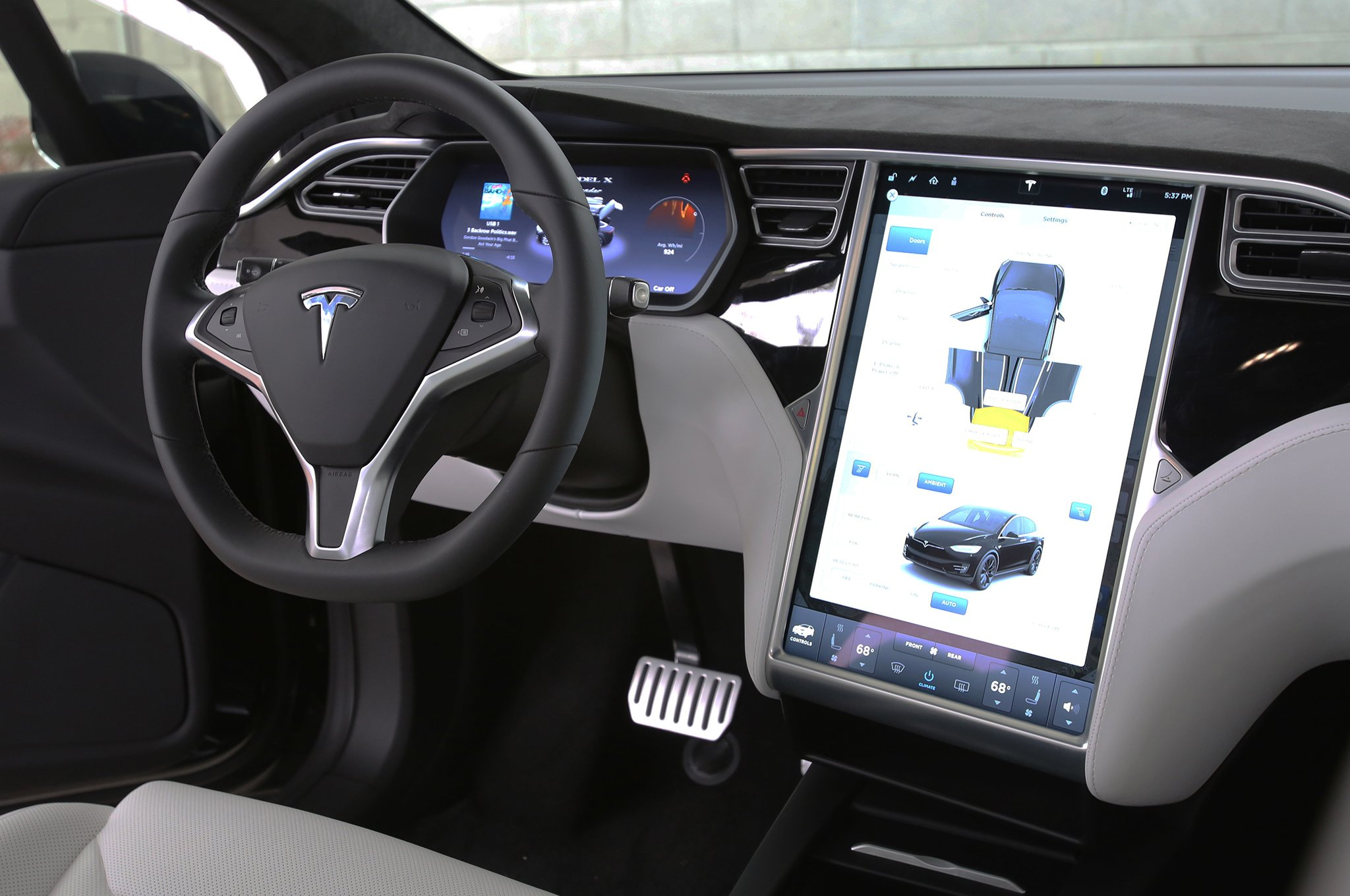 Interior Of Tesla Model X - Home