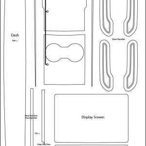 Tesla Model 3 Level 3 Retail Kit Labeled 300x300 - Tesla Model 3 INTERIOR Protection Patterns: All Trim and Screen: Downloadable File