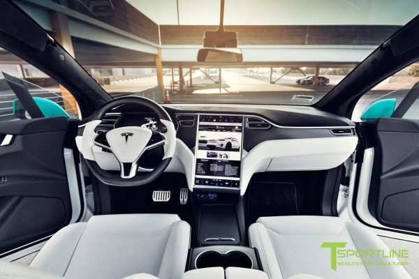 project tifany x tesla model x p90d pearl white 22 inch forged wheels carbon fiber steering wheel 2 600x400 - ALL Tesla INTERIOR Protection Patterns: All Trim and Screen: Downloadable File: Save $200