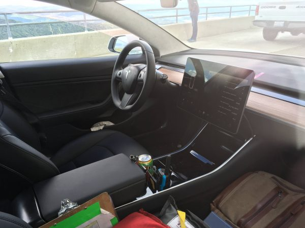 tesla model 3 interior center console 600x450 - Tesla Model 3 INTERIOR Protection Patterns: All Trim and Screen: Downloadable File