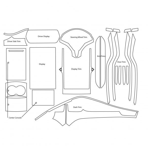 Tesla Model S Level 3 Retail Kit Converted 600x607 - Tesla Model S INTERIOR Protection Patterns: All Trim and Screen: Downloadable File