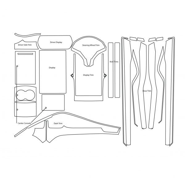 Tesla Model X Level 3 Retail Kit Converted 600x583 - Tesla Model X INTERIOR Protection Patterns: All Trim and Screen: Downloadable File